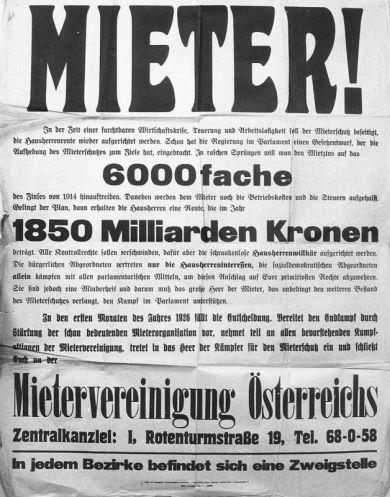 Mietervereinigung Wien Geschichte Wiki