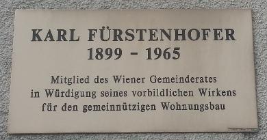 Gedenktafel Karl Fürstenhofer Hof Wien Geschichte Wiki